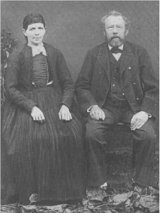 Founder of the company, Johannes Hengstler (Snr.) with his wife Anna in Aldingen