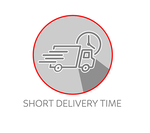 Short delivery time